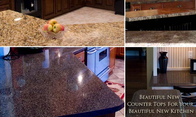 Beautiful new counter tops for your new Kitchen